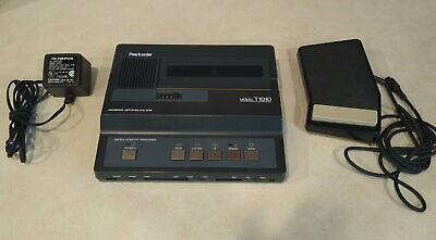 Olympus Pearlcorder T1010 Microcassette Transcriber Foot Pedal Tested Works