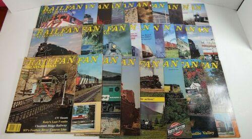 Lot Of 28 Vintage Railfan & Railroad Magazines 1979 - 1992