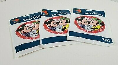 I Love You Helium Balloons (Vtg Disney Mickey & Minnie Mouse