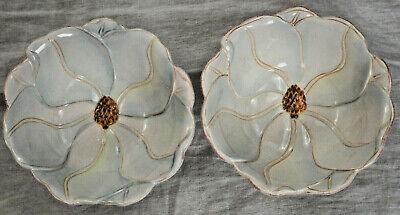 Lot of 2 Artimino MAGNOLIA CHARM Flower Shaped Decorative Soup Salad Bowl (Magnolia Flower Bowl)