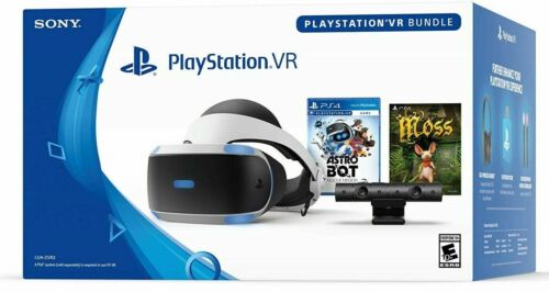 🔥New Sony PlayStation PS4 VR Virtual Reality Headset Bundle Moss Astro BOT PSVR