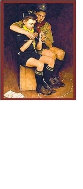 CUB BOY SCOUT OFFICIAL BSA NORMAN ROCKWELL BIG METAL COLLECTORS SIGN FATHERS DAY