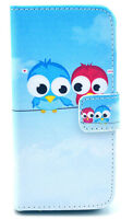 iPhone 5s Blue Bird Lover Leather Flip Cover Case