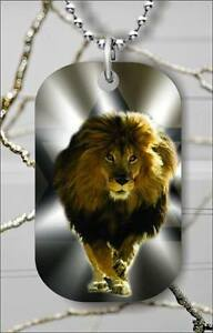 BRAND NEW Lion of Judah dog tag necklace