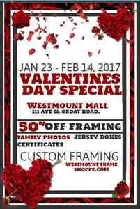VALENTINES GIFT SPECIALS - CUSTOM PICTURE FRAMING