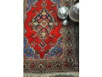 ROSE - Antique Traditional Vintage Persian Wool 145 x 104CM Handmade Carpet Rugs