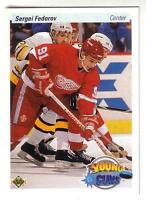 SERGEI FEDOROV .... ROOKIE CARD .... 90-91 Upper Deck High