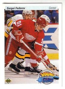 SERGEI FEDOROV .... ROOKIE CARD .... 1990-91 Upper Deck High