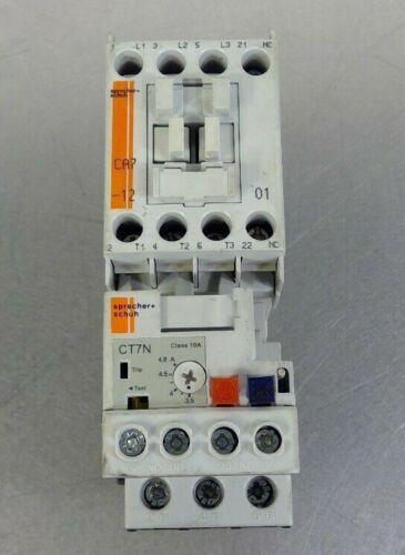 Sprecher+Schuh CA7-12-01 Ser A Contactor w/ CT7N-23-B48 Ser A Overload Relay  4C