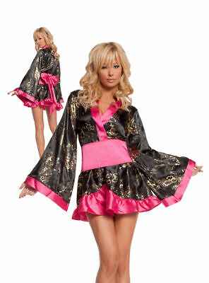 Ladies Shanghai Sweetie Costume S 8-10 UK Fancy Dress Hen Night Chinese Geisha