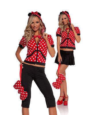 Sexy  5PC Miss Mini Mouse  Women's Halloween Party Costume. Medium](Mini Mouse Costume)
