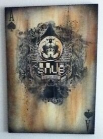 "Snub 23 Graffiti Art - ""The Ace of Spades"" Painting on Canvas"