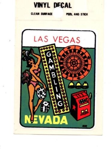 """Lot of 12 Las Vegas Nevada """"Gambling"""" Luggage Decals Stickers - New - Free S&H"""
