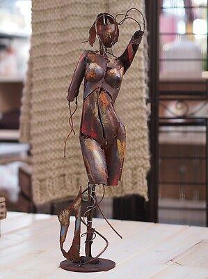 Abstrakte Frau Skulptur Figur aus Metall Art Modern