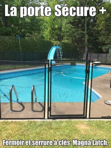 Cl ture de piscine amovible s curitaire pour enfant for Clotures de piscine