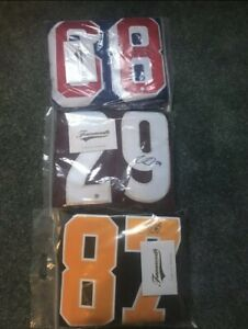 Authentic signed jerseys with COA's