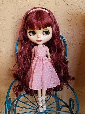 Factory Type Neo Blythe Doll Light Burgundy Red Hair  - Includes Outfit