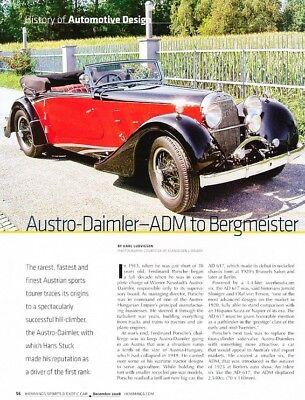 1923 1924 Austro-Daimer Original Car Review Report Print Article J907 for sale  Minneapolis