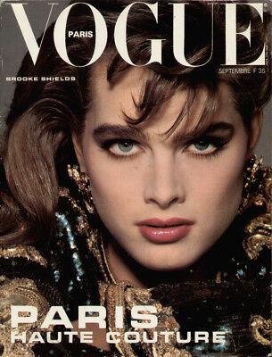 VINTAGE VOGUE PARIS 1983 BROOKE SHIELDS RENEE SIMONSEN SOPHIA LOREN PELZE FUR