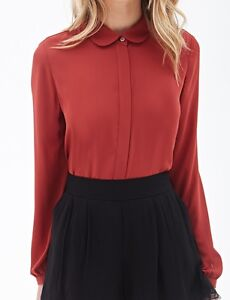 Forever 21 Red Peter Pan Collar Blouse