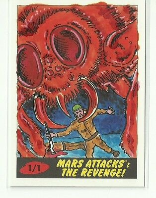 2017 Topps Mars Attacks The Revenge ! Bug & Soldier Sketch Card by Barry Nygma