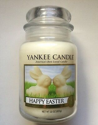 Yankee Candle Happy Easter White Chocolate Bunnies 22 Jar Collectors Edition