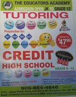 PRIVATE CREDIT HIGH SCHOOL  COURSES, TUTORING ..CALL 9056544646