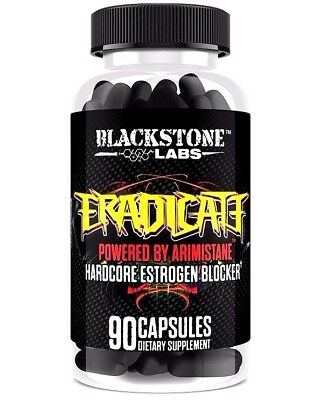 (BlackStone Labs ERADICATE | Estrogen Blocker | Eliminates Gyno | Testosterone )