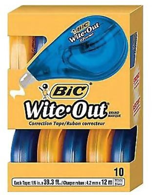Bic Wite-out Brand Ez Correct Correction Tape 10pack 50790