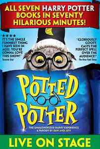 Two Potted Potter Tickets - Wednesday Oct 26th