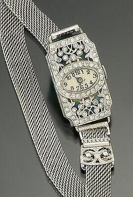 Extraordinary Ladies Platinum Diamond Eberhard & Co. Watch | 1.32 CTS TW