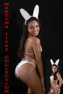 Fantasy Bunny Kostüm Super Sexy erotisches BH-Set Häschen Gogo - Weißen Bunny Kostüm