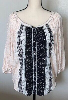 Womens FREE PEOPLE  Button Down  Top Shirt Size XS