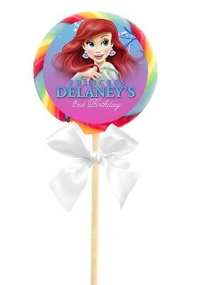 12 Ariel The Little Mermaid Birthday Party Personalized 2.5