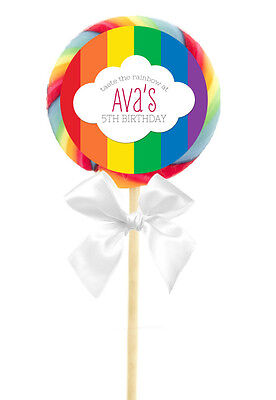 12 Rainbow Birthday Party Favor Rainbow Baby Personalized 2.5