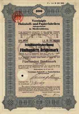 Papierfabriken Holz Niederschlema 1927 Dresden Wittenberge 500 RM Rheindürkheim