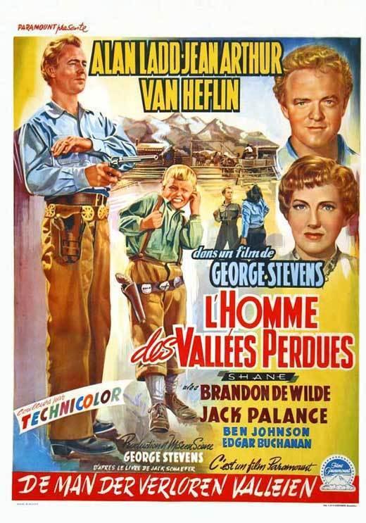 SHANE Movie POSTER 11x17 Belgian Alan Ladd Jean Arthur Van Heflin Brandon de