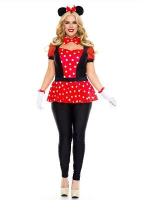 Music Legs Polka Dot Mouse Micky Mouse Halloween Women's Costume 70915 Plus Size](Micky Mouse Costume)