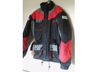 "Motorcycle jacket size ""small""...(but more like a medium!)"