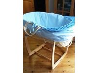 Moses basket with Mamas & Papas stand