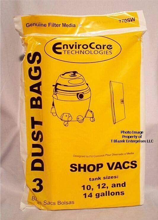 ShopVac 90662 Craftsman Bags 10 12 14  gallon 90662 Shop Vac Pack of 3