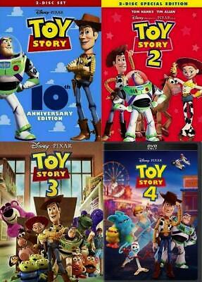 Toy Story I II III & IV DVD Combo 1234 1 2 3 4 Complete Collection Movie