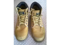 £5! Mens brown EarthWorks safety boots metal toe size 6