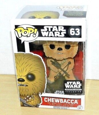 Star Wars Chewbacca Flocked Funko Pop Exclusive Figure  63 Smugglers Bounty