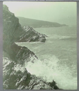 27-Lantern-Glass-Slide-West-Pentire-Crantock-Newquay-Cornwall-Photo-pre-1920s