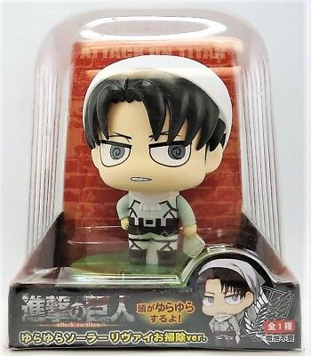 Fukuya Attack On Titan Kyojin Levi Cleaning Yura Yura Solar Figure Bobble Head