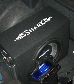 Car subwoofer 1500w 800w built in amp