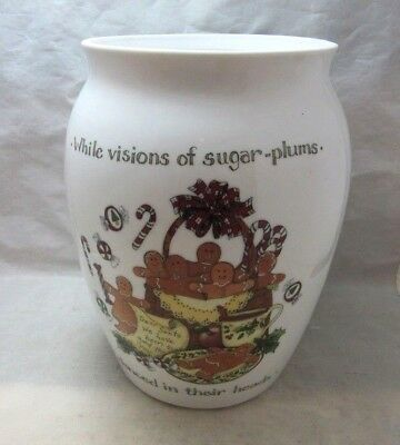 Portmeirion Xmas Story Cookie Jar. NO LID.  Great Vase now. Portmeirion Cookie Jar