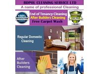 Domestic Cleaning - End of Tenancy Clean with Free carpet wash - Deep clean - Regular Clean