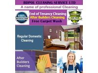 Professional End of Tenancy Cleaning with free Carpet Shampoo wash - 100% guaranteed - Deep clean